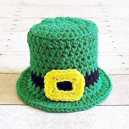Crochet Leprechaun Hat Beanie Top Hat St. Patrick's Day Infant Newborn Baby Toddler Child Adult Handmade Photography Photo Prop Baby Shower Gift Present - Red Lollipop Boutique