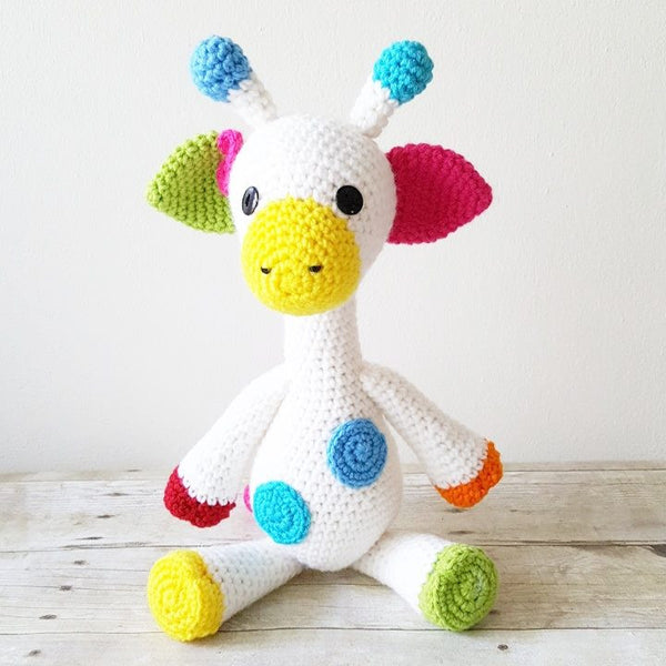 Crochet Giraffe or Elephant Stuffed Animal Toy Newborn Baby Infant Toddler Nursery Decor Handmade Baby Shower Gift - Red Lollipop Boutique
