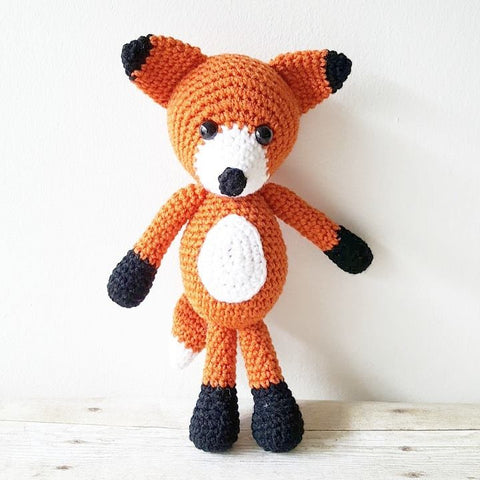 Crochet Fox Stuffed Animal Toy Newborn Baby Infant Toddler Nursery Decor Handmade Baby Shower Gift