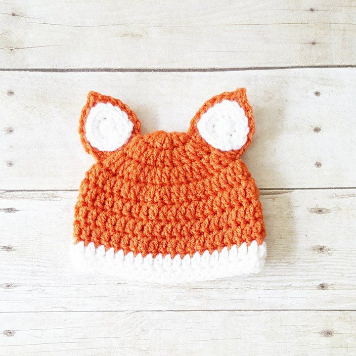 Crochet Fox Beanie Hat Infant Newborn Baby Toddler Child Adult Handmade Photography Photo Prop Baby Shower Gift Present