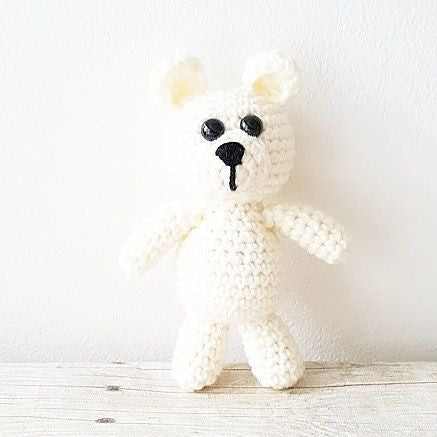 Crochet Baby Bear Stuffie Stuffed Animal Infant Newborn Baby Photography Photo Prop Handmade Baby Shower Gift Present Nursery Decor - Red Lollipop Boutique