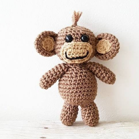 Crochet Pattern Baby Monkey Stuffie Stuffed Animal Toy Infant Newborn Baby Handmade Photography Photo Prop Nursery Decor PDF Instant Download