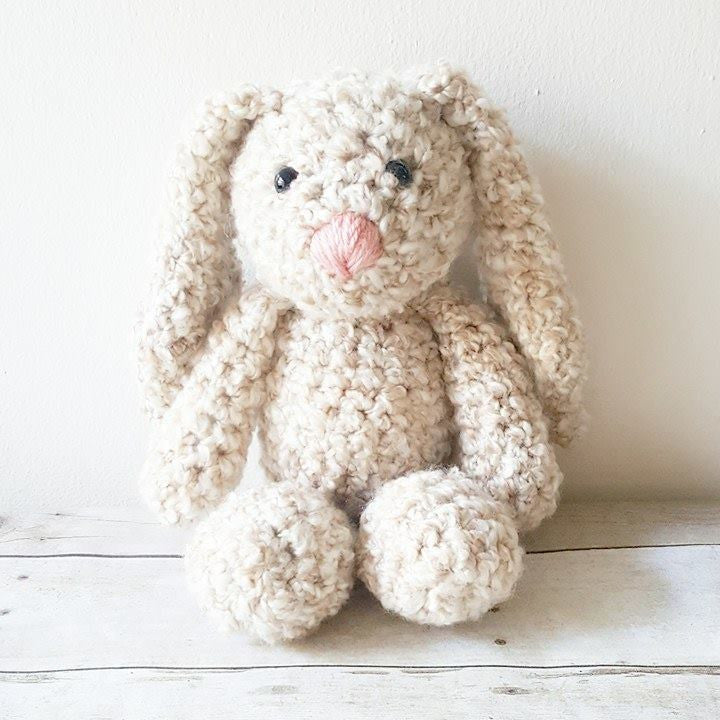 Crochet Floppy Bunny Stuffed Animal Toy Easter Spring Soft Infant Newborn Baby Handmade Nursery Decor Decoration Baby Shower Gift Present Photography Photo Prop