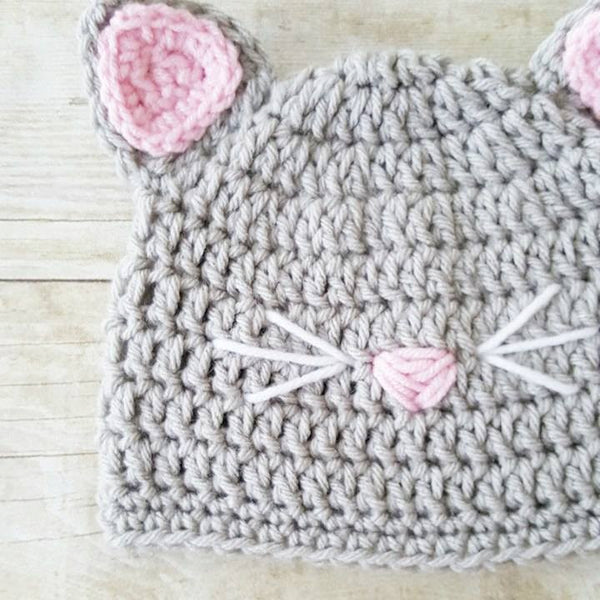 Crochet Cat Beanie Kitten Hat Animal Kitty Kat Infant Newborn Baby Toddler Child Adult Photography Photo Prop Baby Shower Gift Present