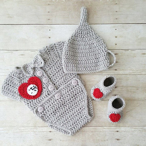 Crochet Baby Tin Man Hat Beanie Onesie Wizard of Oz Set Suit Bodysuit Shoes Boots Booties Infant Newborn Baby Photography Photo Prop Gift