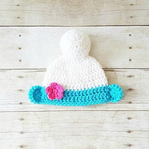 Crochet Baby Smurfs Hat Beanie Infant Newborn Baby Photography Photo Prop Baby Shower Gift Present Cartoon Character Costume Dress Up - Red Lollipop Boutique