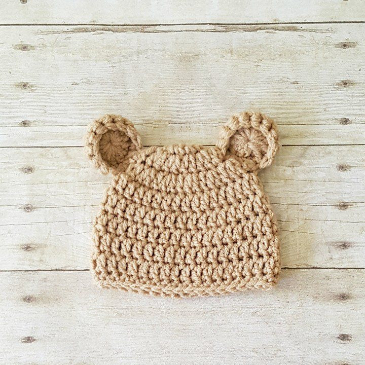 Crochet Baby Bear Hat Beanie Infant Newborn Baby Toddler Child Photography Photo Prop Baby Shower Gift Present Baby Toddler Girl Boy Unisex - Red Lollipop Boutique
