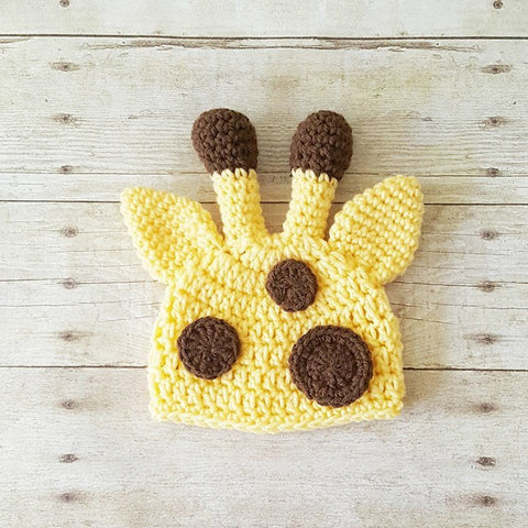 Crochet Baby Giraffe Hat Beanie Infant Newborn Baby Toddler Child Photography Photo Prop Baby Shower Gift Present Girl Boy Unisex Animal Hat
