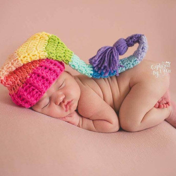 4f1cf6242d1 Rainbow Baby Hat Beanie Stocking Cap Striped Infant Newborn Toddler Ph –  Red Lollipop Boutique
