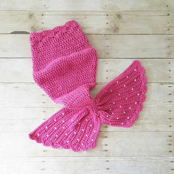 Crochet Baby Mermaid Tail Shell Bikini Top Starfish Headband Photography Prop Set Baby Infant Toddler Handmade Girl Baby Shower Gift Costume