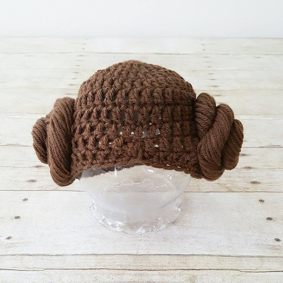 6d2e36ee2 Crochet Baby Princess Leia Dress Hat Wig Hair Shoes Star Wars Costume  Infant Newborn Baby Photography Photo Prop Baby Shower Gift Present