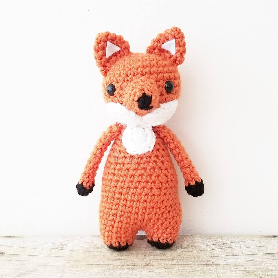Crochet Fox Stuffed Animal Doll Stuffie Infant Newborn Baby Toddler Child Handmade Photography Photo Prop Baby Shower Gift Present