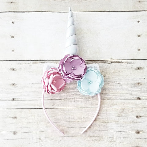 Unicorn Flower Headband Infant Newborn Baby Toddler Child Handmade Photography Photo Prop Baby Shower Gift Present