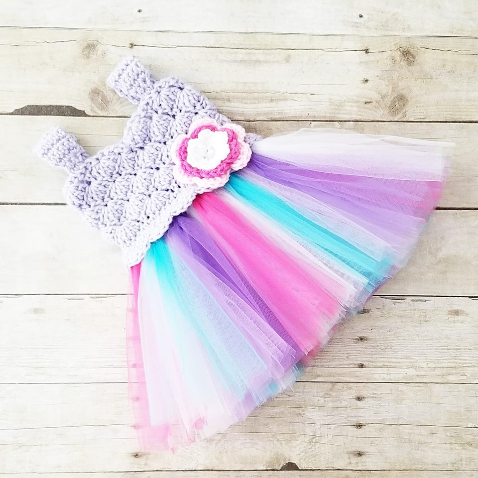 Crochet Tutu Dress Newborn Baby Infant Toddler Child Handmade Photography Photo Prop Baby Shower Gift