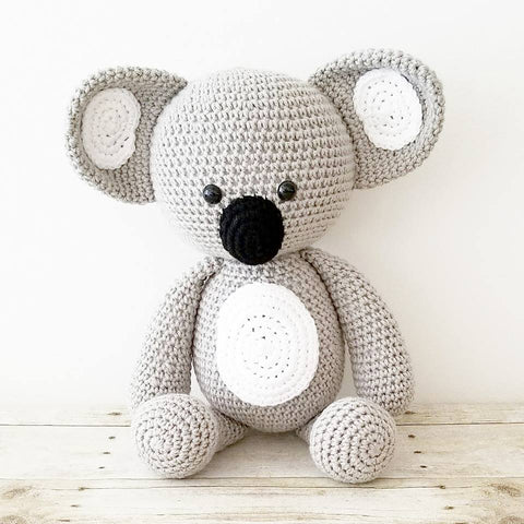 READY TO SHIP Crochet Koala Bear Stuffed Animal Doll Toy Infant Newborn Baby Toddler Nursery Bedroom Decor Handmade Photography Photo Prop Baby Shower Gift