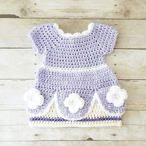 Crochet Baby Sofia The First Dress Costume Infant Newborn Baby Photography Photo Prop Baby Shower Gift - Red Lollipop Boutique