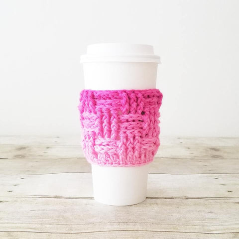 Crochet Coffee Cup Cozy Cozies Mom Life I Love Coffee