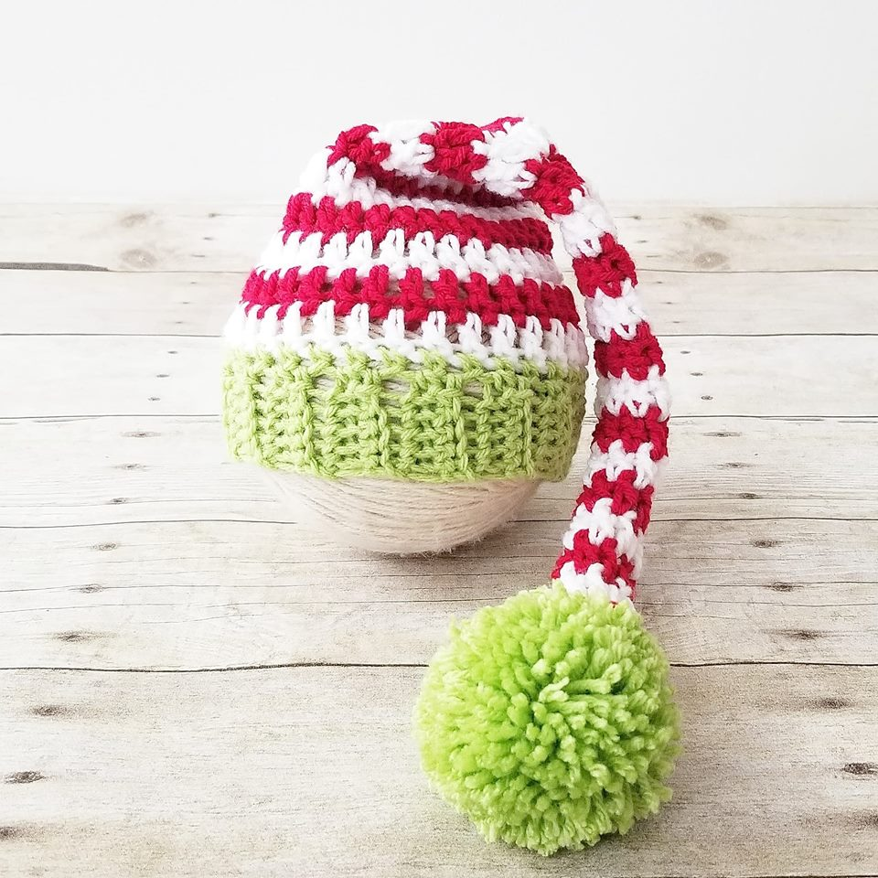6b4a0fe01e2 ... Crochet Baby Christmas Striped Stocking Cap Hat Diaper Cover Set Infant  Newborn Baby Handmade Photography Photo