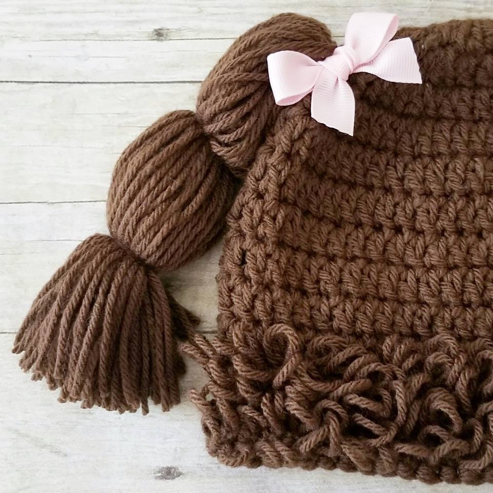 cabbage patch doll hat knitting pattern