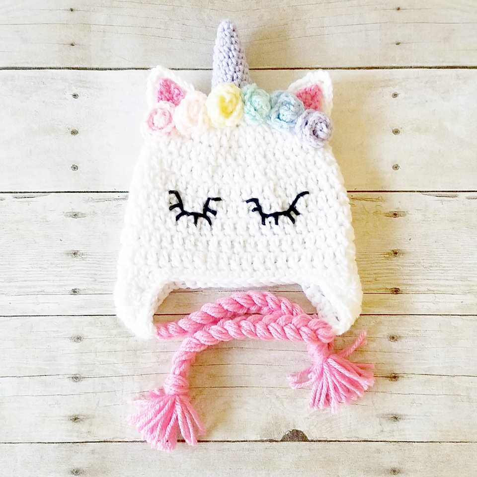 Crochet Unicorn Beanie Hat Infant Newborn Baby Toddler Child Adult Handmade Photography Photo Prop Baby Shower Gift Present