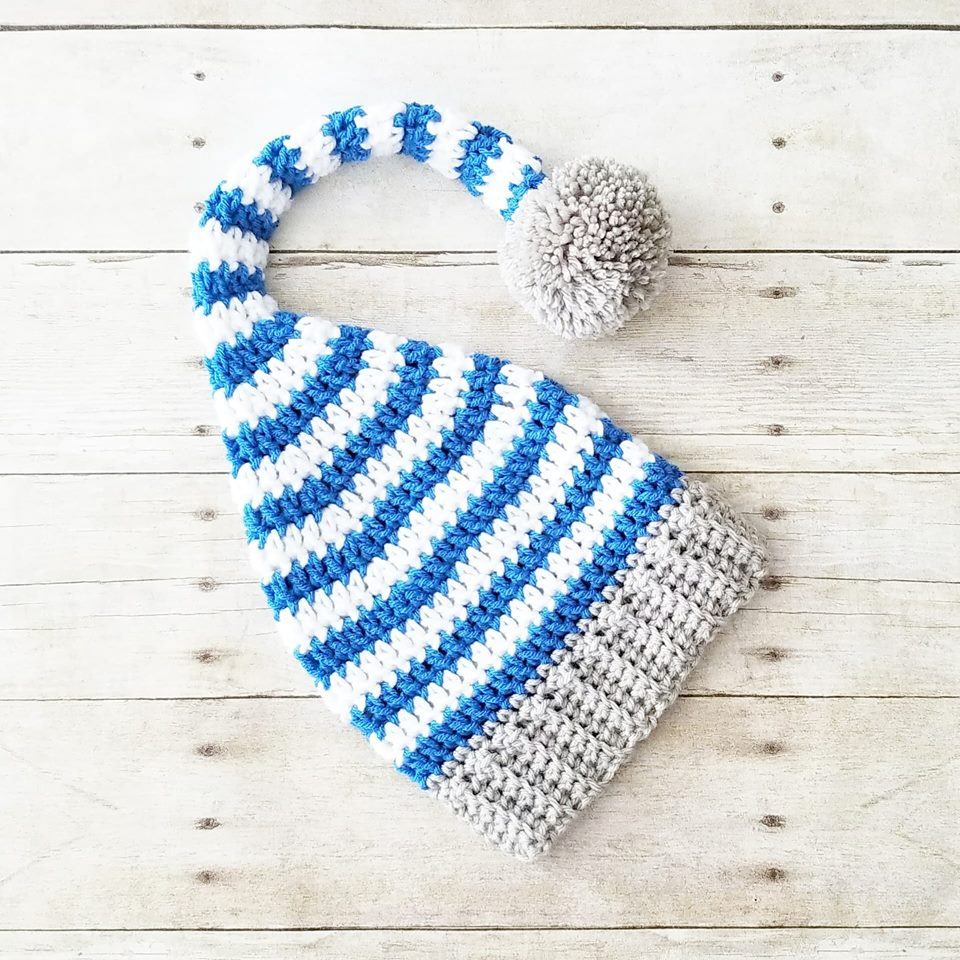 d8170407412 ... Crochet Baby Stocking Cap Hat Beanie Striped Infant Newborn Baby  Toddler Handmade Photography Photo Prop Baby ...