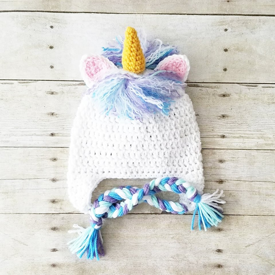 Crochet Unicorn Hat Beanie Newborn Baby Infant Toddler Child Adult Animal Hat Photography Photo Prop Handmade Baby Shower Gift