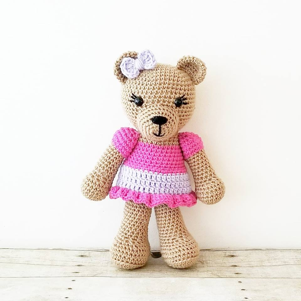 Crochet Teddy Bear Stuffed Animal Doll Toy Infant Newborn Baby Toddler Child Handmade Photography Photo Prop Baby Shower Gift Present
