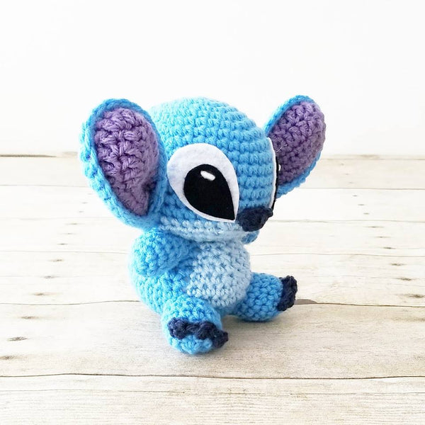 Crochet Stitch Doll Toy Stuffed Animal Disney Lilo and Stitch Infant Baby Toddler Handmade Photography Photo Prop Baby Shower Gift
