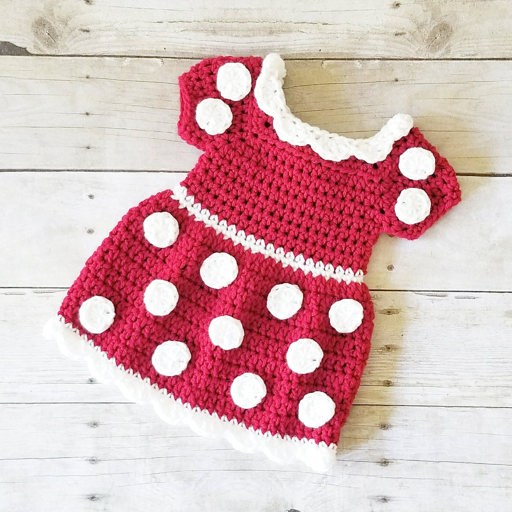 Crochet Baby Minnie Mouse Dress Newborn Photography Photo Prop
