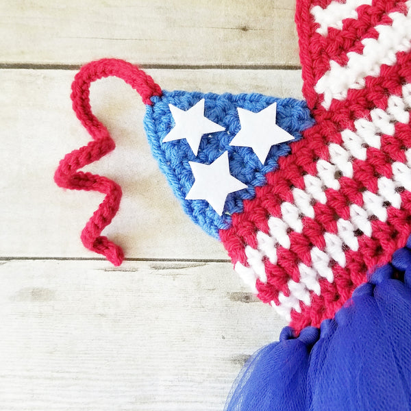 Crochet 4th of July Tutu Dress Newborn Baby Infant Toddler Child Handmade Photography Photo Prop Baby Shower Gift - Red Lollipop Boutique