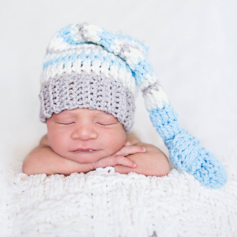 Crochet Baby Knot Beanie Hat Striped Top Knot Infant Newborn Baby Toddler Child Photography Photo Prop Baby Shower Gift Present Newborn Pics