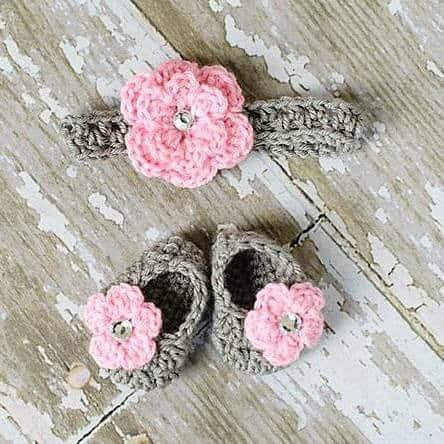 Crochet Baby Tutu Dress Flower Shoes Headband Set Newborn Baby Infant – Red  Lollipop Boutique e17c2514a08