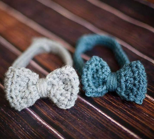 Crochet Baby Boy Bow Tie Adjustable Newborn Infant Toddler Child Accessory Photography Photo Prop Handmade Baby Shower Gift - Red Lollipop Boutique