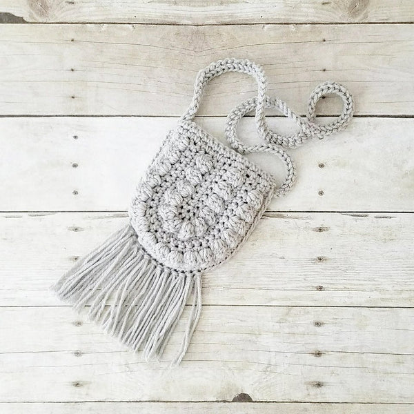 Crochet Boho Fringe Purse Girl's Accessory Toddler Child Adult - Red Lollipop Boutique