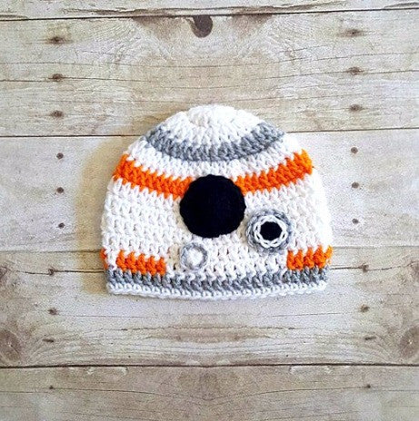 Crochet Baby BB8 Hat Beanie Star Wars Newborn Infant Toddler Child Adult Costume Photography Photo Prop - Red Lollipop Boutique