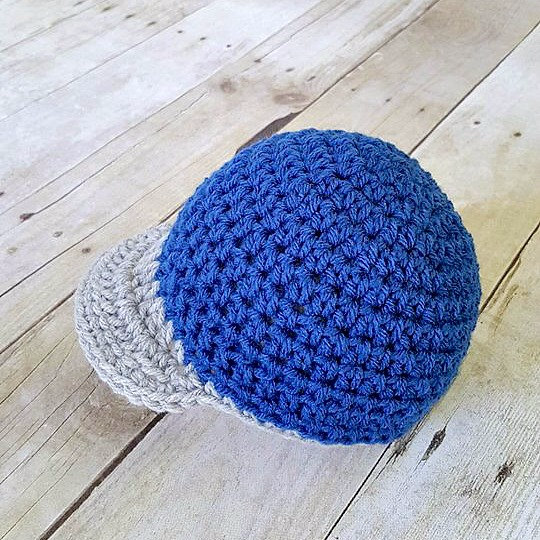 Crochet Baby Baseball Cap Hat Beanie Sports Newborn Infant Toddler Child Newsboy Visor Photography Photo Prop Handmade Baby Shower Gift - Red Lollipop Boutique