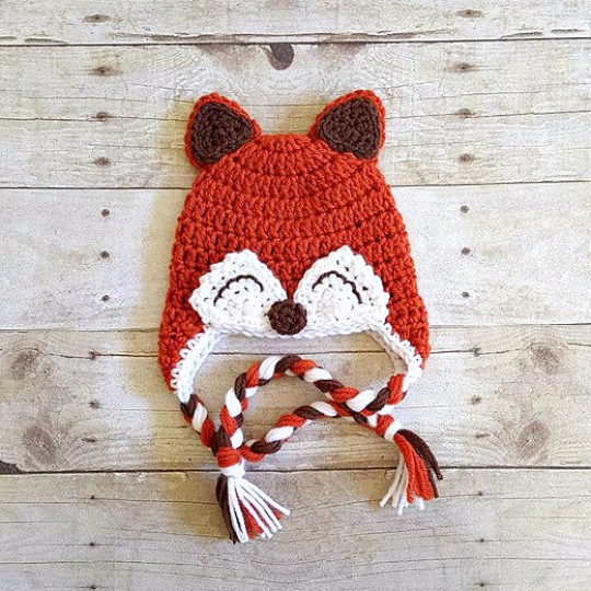 Crochet Baby Fox Hat Beanie Newborn Infant Toddler Adult Photography Photo Prop Animal Handmade Baby Shower Gift - Red Lollipop Boutique
