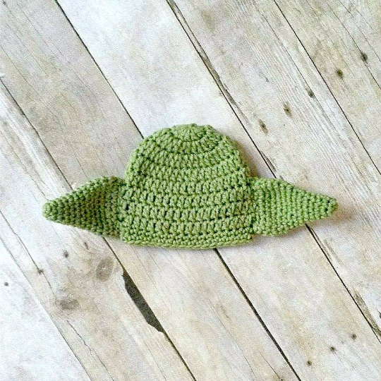 Crochet Baby Yoda Hat Beanie Star Wars Inspired Newborn Infant Toddler Child Adult Photography Prop Handmade Baby Shower Gift - Red Lollipop Boutique
