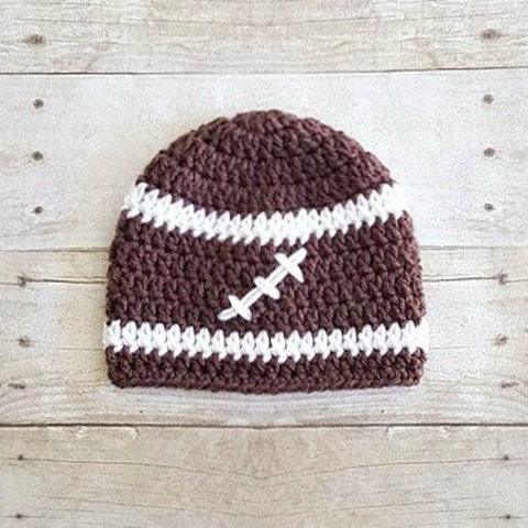 Crochet Football Sports Team Beanie Hat Newborn Baby Infant Toddler Child Adult Photography Photo Prop Handmade Baby Shower Gift - Red Lollipop Boutique