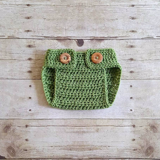Crochet Baby Diaper Cover Bloomers Button Adjustable Newborn Infant Photography Photo Prop Handmade Baby Shower Gift Baby Boy Baby Girl Prop
