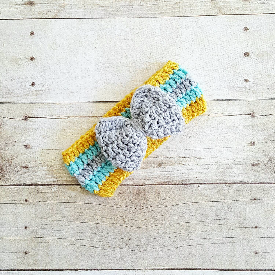 Crochet Baby Big Bow Headband Turban Newborn Infant Toddler Child Adult Handmade Hair Accessory Photography Photo Prop
