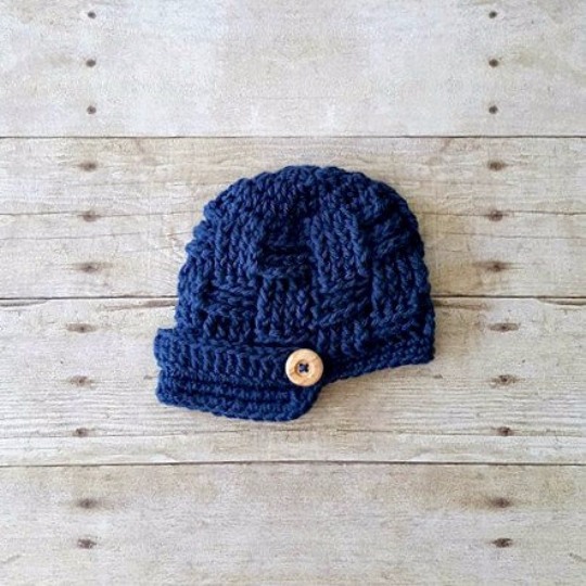 4e6ed6d16 Crochet Newsboy Hat Visor Beanie Infant Newborn Baby Toddler Child Adult  Photography Photo Prop Handmade Baby Shower Gift Basket Weave
