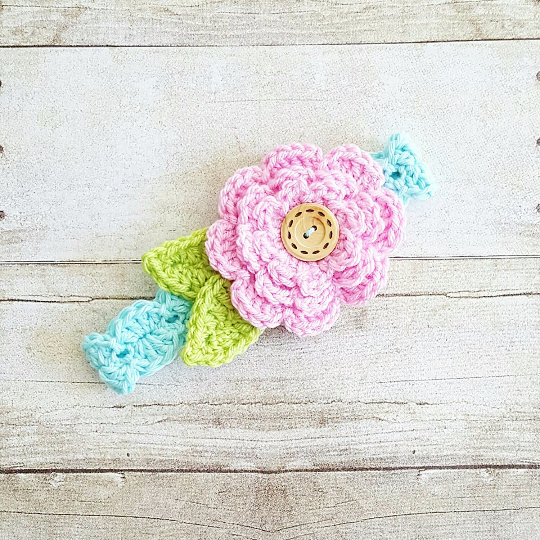 Crochet Baby Big Flower Headband Newborn Infant Toddler Child Adult Handmade Hair Accessory Photography Photo Prop - Red Lollipop Boutique