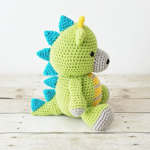 Crochet Dragon Dinosaur Stuffed Animal Doll Toy Infant Baby Toddler Nursery Decor Decorations Handmade - Red Lollipop Boutique