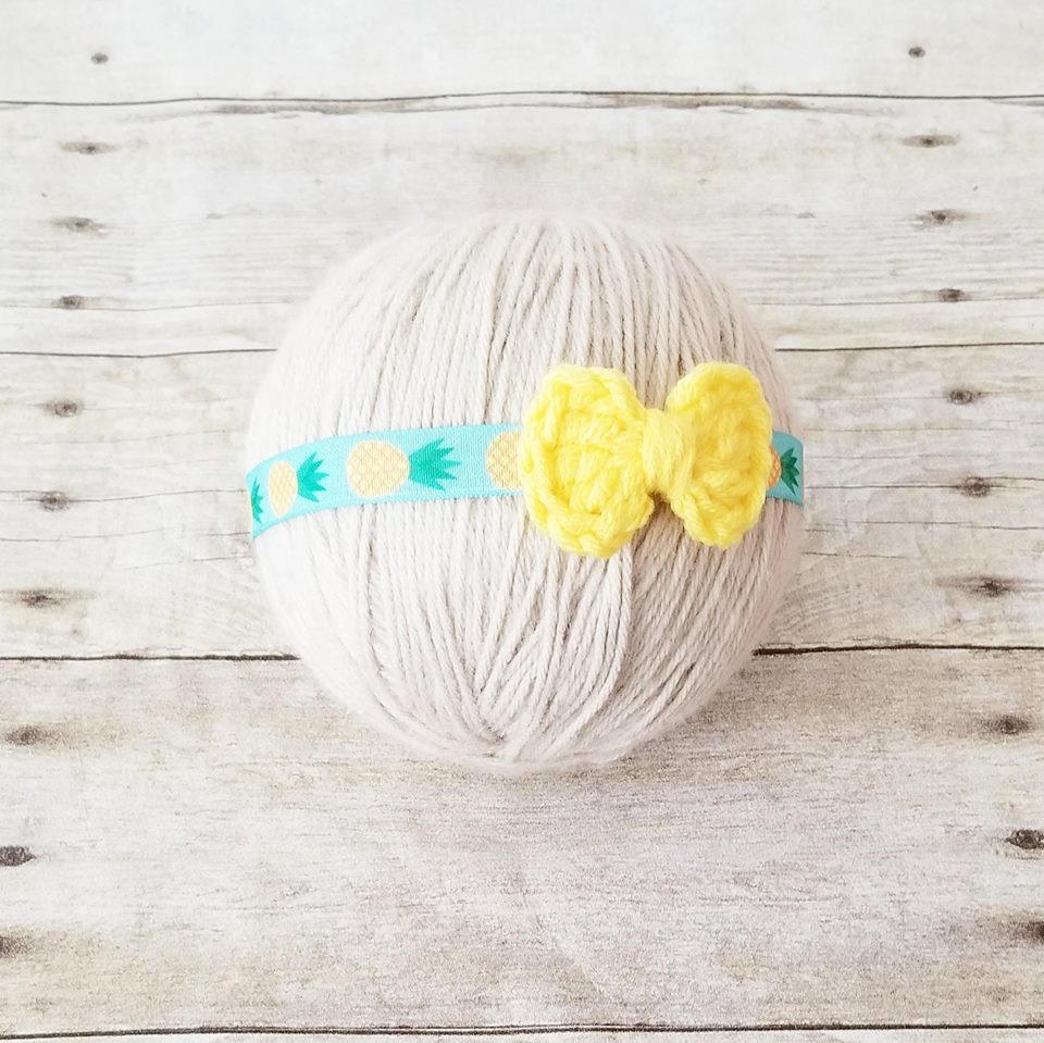 Baby Pineapple Bow Headband Summer Time Newborn Baby Infant Toddler Child Photography Photo Prop - Red Lollipop Boutique