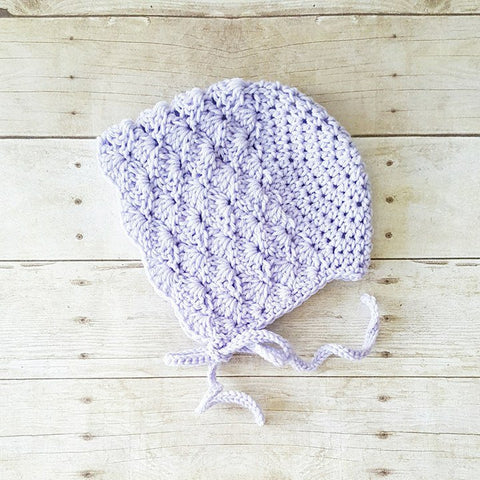 Crochet Baby Bonnet Beanie Hat Shells Spring Summer Infant Newborn Toddler Child Girl Photography Photo Prop Accessory Baby Shower Gift