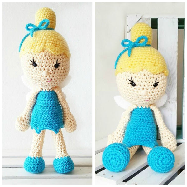 Crochet Fairy Princess Toy Doll Baby Infant Toddler Developmental Toy Handmade Baby Nursery Decor