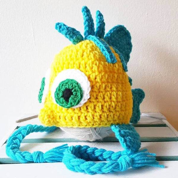 Crochet Flounder Hat Beanie The Little Mermaid Newborn Infant Baby Toddler Child Adult Handmade Photography Photo Prop