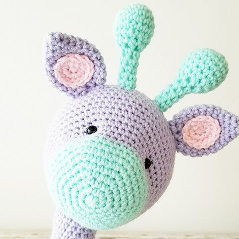 Crochet Giraffe Stuffed Animal Doll Baby Infant Toddler Nursery Bedroom Decor Handmade