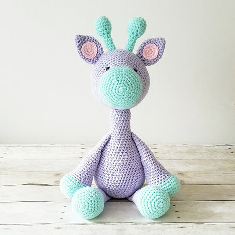 Crochet Giraffe Stuffed Animal Doll Baby Infant Toddler Nursery Bedroom Decor Handmade - Red Lollipop Boutique